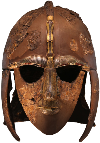 Colour photograph of the Sutton Hoo helmet